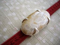 Fossil coraloriginal sterling silverobidomefor by WAYOKO on Etsy