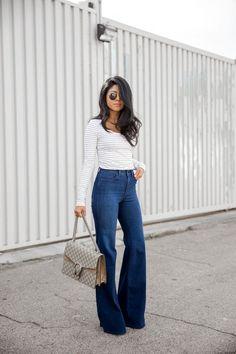 fa9608212e4 Las 11 mejores imágenes de outfit jeans campana en 2016 | Moda ...