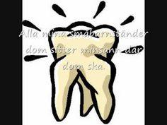 Min tand e lös (med text)