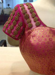 Pattu Saree Blouse Designs, Blouse Designs Silk, Bridal Blouse Designs, Maggam Work Designs, Indiana, Sarees, Work Blouse, Ball Dresses, Prom Dresses