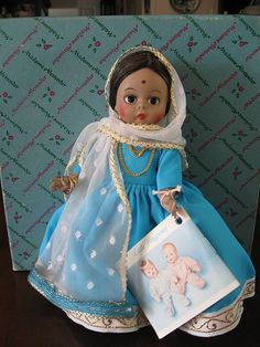 """Madame Alexander """"India"""" 1975.  I collected Mme Alexander dolls all through the 1970's.  I still have them, boxed and in my closet.  Maybe my son will give me a grand-daughter someday...(from my lips to God's ears...)"""