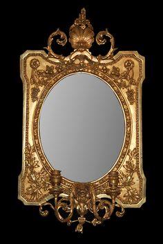 French Girandole Mirror; circa 1880