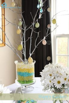 Easter tree - I love the jelly beans in the base
