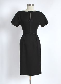 Late 1950's Harvey Berin Linen Cocktail Dress