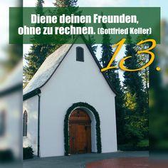 Zitat zum Advent von Gottfried Keller, Kirchentüre: Schönstattheiligtum Liebfrauenhöhe Ergenzingen in Baden-Württemberg