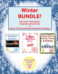 Valentines Writing Prompts, Picture Writing Prompts, Thing 1, Winter Pictures, Valentine Day Cards, In Kindergarten, Teacher Resources, Teaching, Number Sense