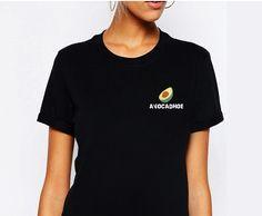 Avocadhoe T-Shirt from CUPPA TEE ⭐️  cuppateestore.com #graphictee #tumblr #tumblrshirt #aestheticshirt #avocado #avocadhoe #veganshirt