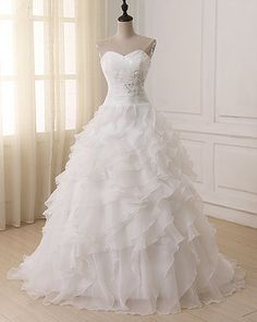 ADLN Cheap Wedding Dress 2018 Robe De Mariee White/ Ivory Corset Plus Size Wedding Dresses Vestido De Novia In Stock Very funny my purchase,. Wedding Dress Organza, Wedding Dresses 2018, Wedding Dresses Plus Size, Plus Size Wedding, White Wedding Dresses, Cheap Wedding Dress, Bridal Dresses, Ivory Wedding, Organza Bridal