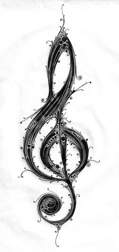 39 Ideas For Music Tattoo Designs Instruments Treble Clef Music Tattoo Designs, Music Tattoos, Tatoos, Rib Tattoos, Henna Tattoos, Treble Clef Tattoo, Treble Clef Art, Guitar Tattoo, Instalation Art