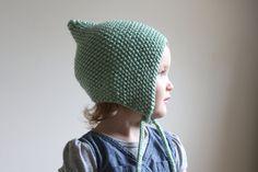 Knit Baby Pixie Bonnet  Toddler Pixie Hat  by hilaryfrazier, $34.00