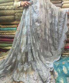 Nothing beats the Liberty Market shopping experience! Banarsi Saree, Lace Saree, White Saree, Designer Sarees Wedding, Saree Wedding, Pakistani Formal Dresses, Indian Dresses, Georgette Saree Party Wear, Bridesmaid Saree