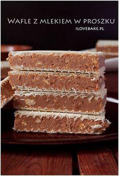 Wafle z mlekiem w proszku ilovebake.pl #bars Polish Desserts, Polish Recipes, No Bake Desserts, Delicious Desserts, Yummy Food, Jelly Recipes, Sweet Recipes, Cake Recipes, Dessert Recipes