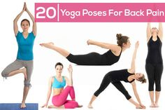 1) Mountain pose 2) Tree pose 3) Triangle pose 4) Cow pose 5) Cat pose 6) Downward facing dog 7) Seated spiral twist 8) Seated forward bend 9) Staff pose 10) Double pigeon pose 11) Butterfly pose 12) 1 legged King pigeon 13) Knees to chest 14) Reclining spinal twist 15) Bridge pose 16) Boat pose 17) Cobra pose 18) Locust pose 19) Bow pose 20) Rabbit pose