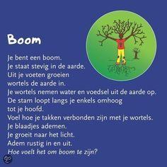 "Boom (Dutch for ""tree"") yoga Mindfullness For Kids, Reiki, Massage, Coaching, Brain Gym, Yoga For Kids, Yoga Meditation, In Kindergarten, Kids Learning"