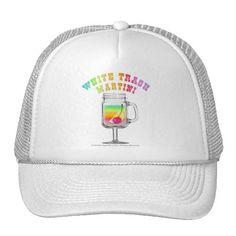 Hats, Caps - White Trash Martini