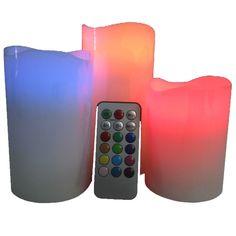 Set de 3 Bougies Cire LED + Télécommande - FengShuiPanda