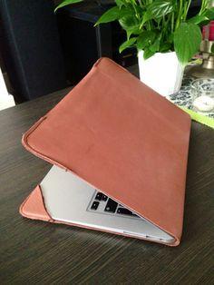 MacBook Air 13' Leather cover, MacBook sleeve, Macbook laptop case. Leather @lorisabrowsky