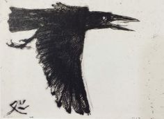 Matazo KAYAMA's paintings and prints for sale. Japanese Painting Gallery carries a great variety of Matazo KAYAMA's artworks. Japanese Animals, Japanese Bird, Crow Art, Raven Art, Painting Gallery, Ink Painting, Ink Illustrations, Illustration Art, Black Bird Fly