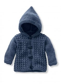 Mag 182 n 36 Hooded vest Models embroidery amp knitting Buy online Baby Cardigan Knitting Pattern Free, Baby Boy Knitting Patterns, Cardigan Pattern, Knitting For Kids, Knitting Ideas, Knit Baby Sweaters, Hooded Cardigan, Barn, Baby Boys