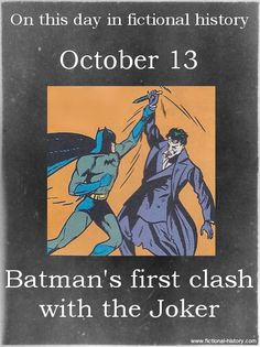"""Batman's first clash with the Joker."" (Source)"