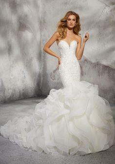 ecac2bff6bd Leona Wedding Dress 8282 Mori Lee Glamorous Mermaid Wedding Dress Featuring  Beaded