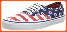 Vans Authentic Dyed Dots & Stripes Blue/Red Sneakers (3.5 Mens/5 Womens) - Sneakers for women (*Amazon Partner-Link)
