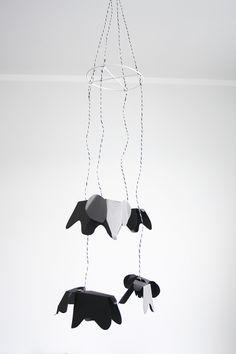 DIY Eames elephant mobile