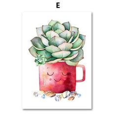 Watercolor Cactus, Watercolor Paintings, Painting Art, Watercolour, Canvas Wall Art, Canvas Prints, Cactus Art, Plant Wall, Plant Design