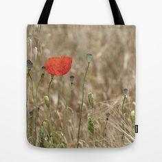Happy poppy Tote Bag by Guido Montañés - $22.00