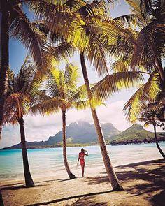 A Bora Bora moment in time on the Victoria's Secret Swim 2016 shoot.