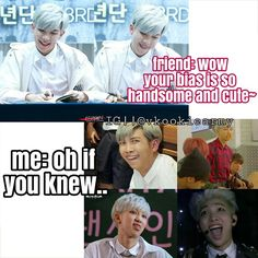 LOL XD Rap Monster is my hot bias #2...omg those faces tho