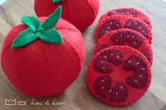 Tomato felt food! Download pattern! Do It yourself - diy - for kids or for you!!!!