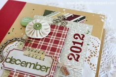December Daily cover using Simple Stories by Gail Lindner