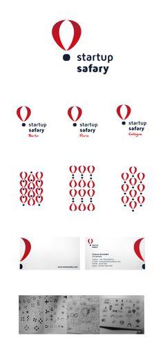 "Safary brand Corporate Identity. ""Startup Safary"" brand - meetings around the world. CHILID for Sturtup Safary / Agency: CHILID Creative Dir.: Anna Zarudzka Designer / Graphic Designer: Anna Bil"