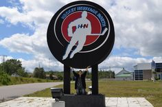 worlds largest free standing hockey puck - Kirkland Lake, Ontario