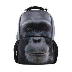 3D Animal Backpack for Men Women,Teen Boys Girls Owl Tiger Printing Backpacks Laptop,Children Travel Back Bag mochila sac a dos