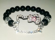 Rhinestone Hello Kitty Stretch Bracelet by NGeniousCreations, $25.00