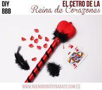 Bueno, Bonito y Barato - DIY Queen of hearts wand