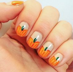 26 Pumpkin Nail Designs That Will Satisfy Your Pie Craving