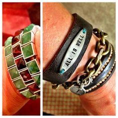 loved the layered bracelet look!