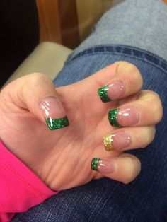 Green-Tips | Easy St Patricks Day Nail Designs | Easy Nail Art for Beginners Step by Step