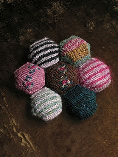 A Tiny Owl Knits Cupcake-Kitten-Hat-inspired collection of little duplicate stitch charts for your Bee Keeper's Quilt, or anything else tiny you wish to embroider!