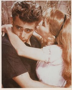 James Dean and Julie Harris in 'East of Eden', 1955.