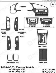 2001 acura cl dash trim manual