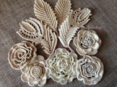 Applique 447 inches 10-12 cm Irish crochet yarn by AlisaSonya