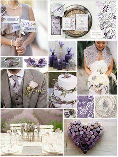 Lavender Wedding Inspiration Board