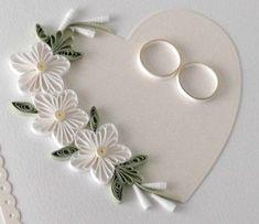 Quilling Hochzeitskarte Papier quilling personalisiert   Etsy