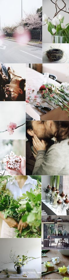 Spring, UK, Mood Board, Inspiration, Ideas, Fresh, Beginnings, Love, Pale, Pink, Green, Light