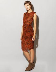 Rust floral dress [Bil1045] - $128 ($100-200) - Svpply