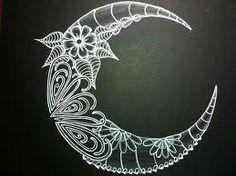 zentangle moon - Google Search